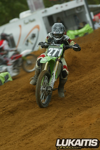 James Stewart's younger brother Malcolm shows that he has the speed to compete.