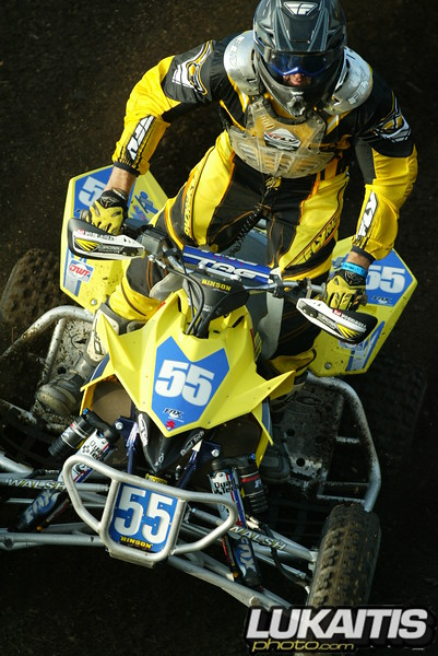 Quad racing is great to shoot. The track breaks in differently so the angles are all new. WPSA champion Doug Gust.