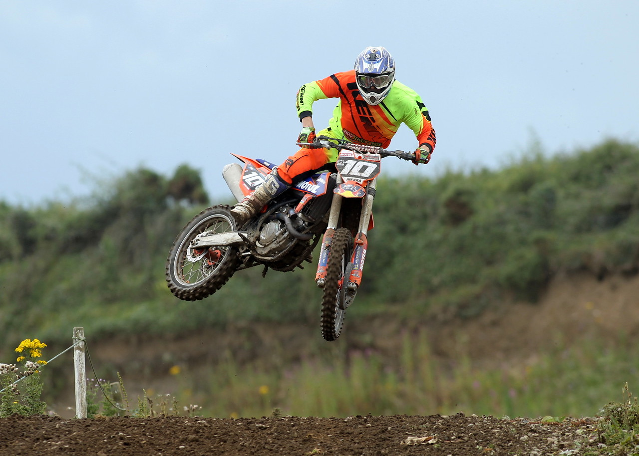 Jason Meara whips it over one of Gormanston's Tabletops