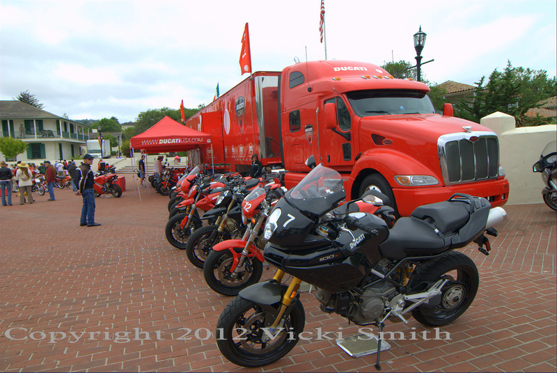 Ducati was an event and Moto Concorso sponsor.  They have been a main supporter of the recreated Italian event as well, right from the start, switching to the USA event in 2008.