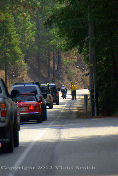 There were checkpoints along the road thru the Big Sur area, which was still smoldering in places