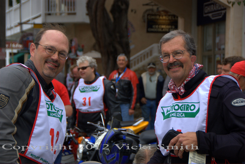 That's father and son team Jim Dillard Jr. and Sr. Jim Sr has attended 7 of the 8 Italian events.