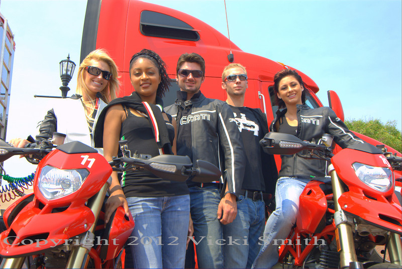 The Italian Trade Commission sponsored this Ducati fashion show