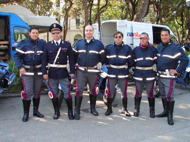 Bologna's finest. These guys will spend the next 5 days making everybody involved's lives easier. This has to be the only place I am ever delighted to see the police when I am driving!