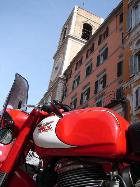 Moto Morini's are popular because they are tough and fast and available here.