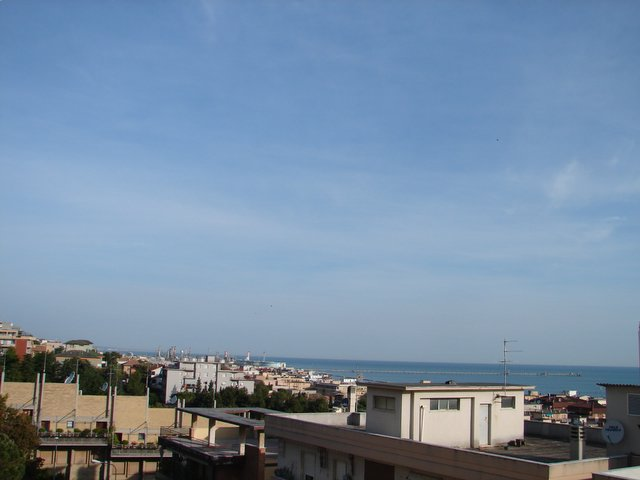 Morning in Ancona, the view from the Hotel Touring was sky blue and miles of sea.
