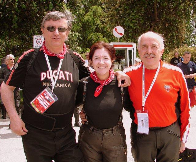 Federico Minoli, me and Gianluigi Mengoli on day 5