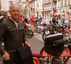 That's Remo Venturi, in the same leathers he wore, well, always.  He's remarkable - fast and silky smooth in the mountains and even faster in the cities and towns, riding with him is both a rush and a great honor.