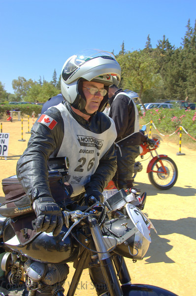 Rick Hammond gets ready for a skill test, the way this event is won or lost