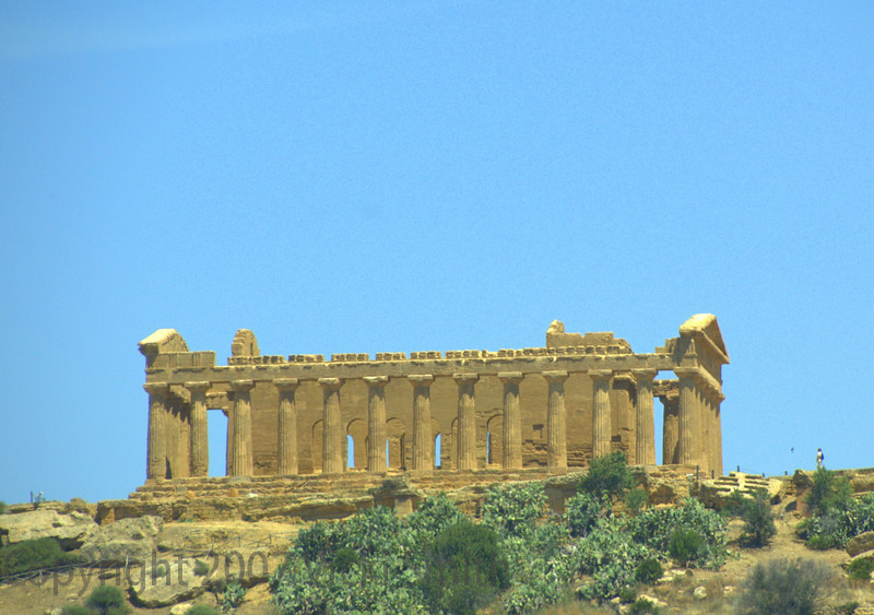 I took this shot driving by. Greek ruins in Sicily