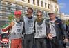 The finish. From left, Burt Richmond, Rich Lambrechts, John Gumina and Rick Hammond