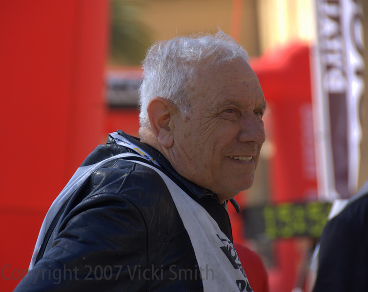 Giuliano Maoggi, winner of the 1956 event. Still riding fast. Last I saw him he told me he would see me in Sardinia for 2008