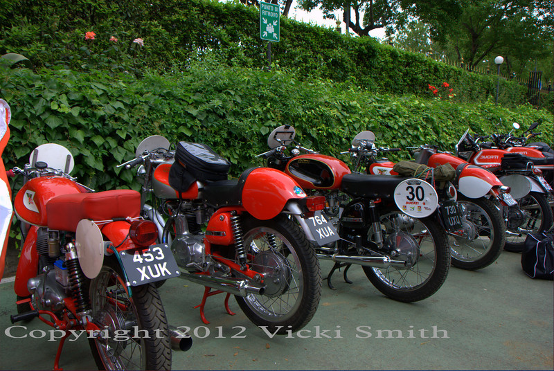 Moto Morini's and Rumis and Parilla's, all bikes of rare and special heritage will spend the next five days being beaten like rented mules. These bikes were built to be ridden.