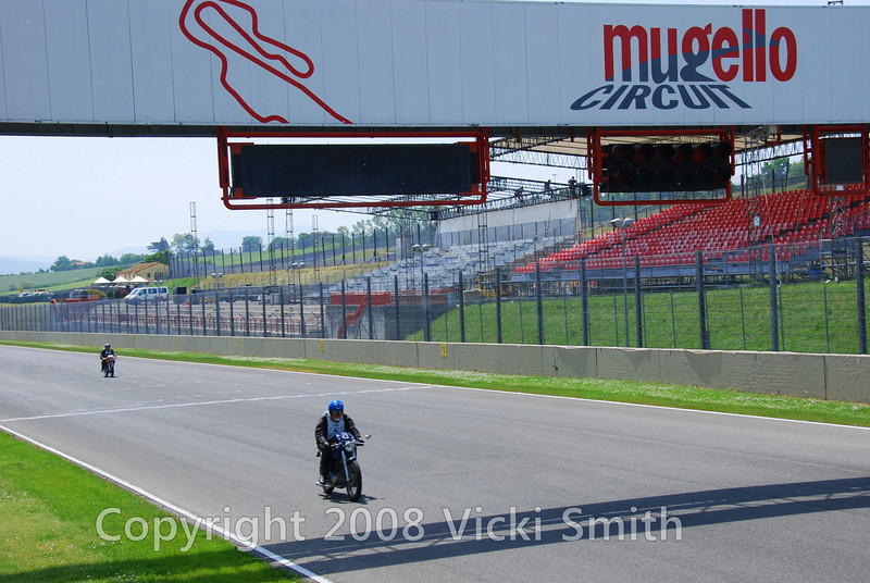 The 2009 Motogiro included a skill test on the Mugello circuit.  Three laps, one for sighting and the next two at your own pace but they needed to be identical.  Not so easy but very fun