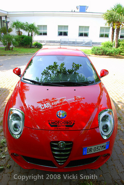"That's what the winner drove home. Nice huh? :-)  Alfa has signed on for two years so who knows, maybe this could be you next year.........<br /> <br /> Motogiro 2010, April 19 - 25th, Monte Carlo to Torino to Monte Carlo.<br /> <br /> See you there!<br /> <br /> Vicki<br /> ps. <br /> Here's the link to Dan and Lorainne Bockmier's wonderful video of the 2009 event:<br />  <a href=""http://www.bockmier.com/motogiro/"">http://www.bockmier.com/motogiro/</a>"