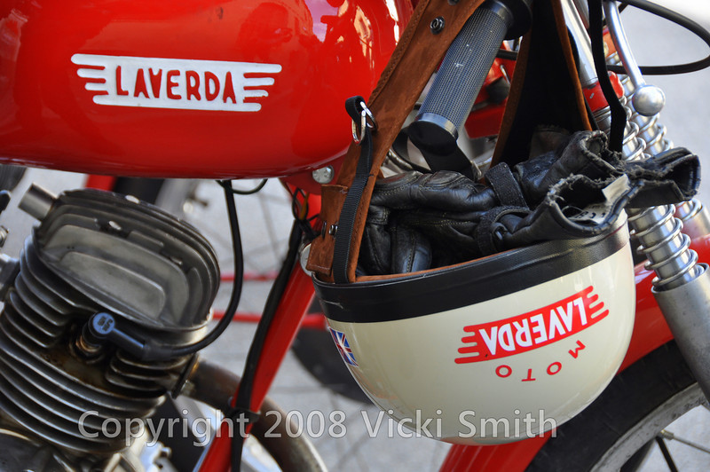 This year the smallest bike was a 65cc Moto Guzzi, this 100cc Laverda was a close second.  Every afternoon it would get hot and seize, then cool off and run like a top again.  The demand put on the machines is ridiculous, from mountains to the sea