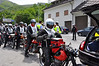 We rode thru one really long tunnel from France to Italy all in a bunch - little bikes have weak headlights and in this case there is strength in numbers.  It was like flying in a swarm of bees inside the hive!