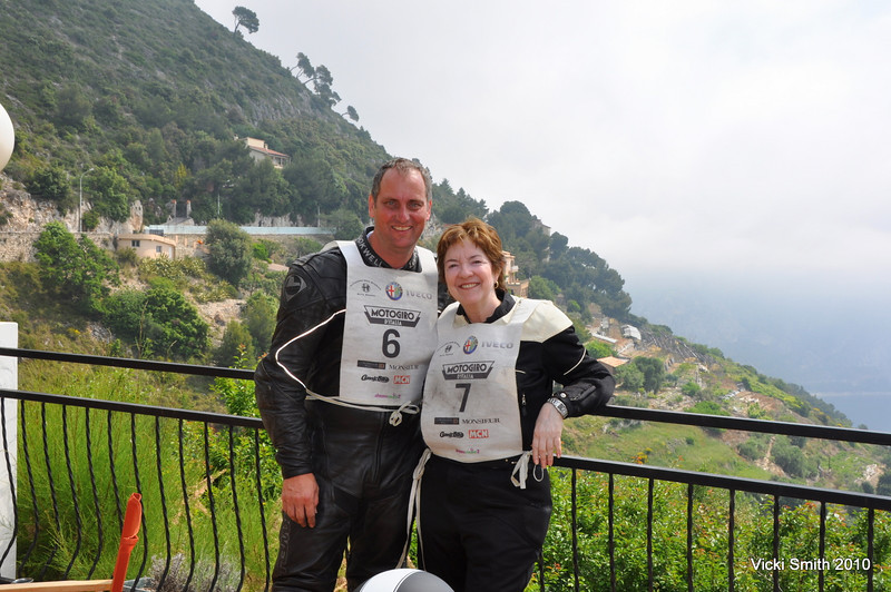 Rich and I stopped for coffee on day 5, high over the harbor near Monaco.