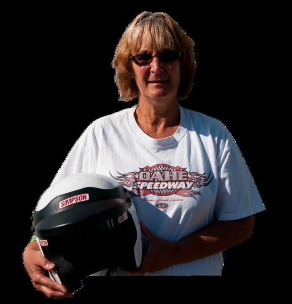 Karen England, Pierre, SD, 2016 Oahe Speedway Sportsman Champion