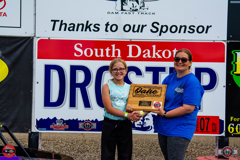 Ashlynn Odde, Aberdeen, SD - Winner -  Aberdeen Wings Junior Minor Pepsi Points Race #4
