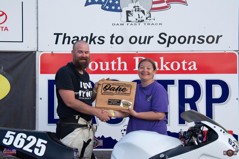 Michael Braley, Pierre, SD - Winner - Oahe Speedway Bike/Sled Shootout