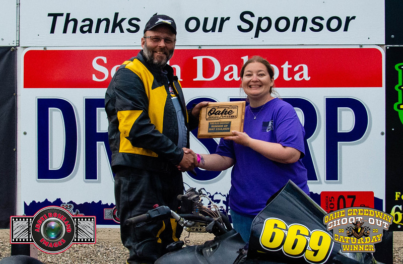 Bryon Henningson, Pierre, SD - R/U - Oahe Speedway Bike/Sled Shootout