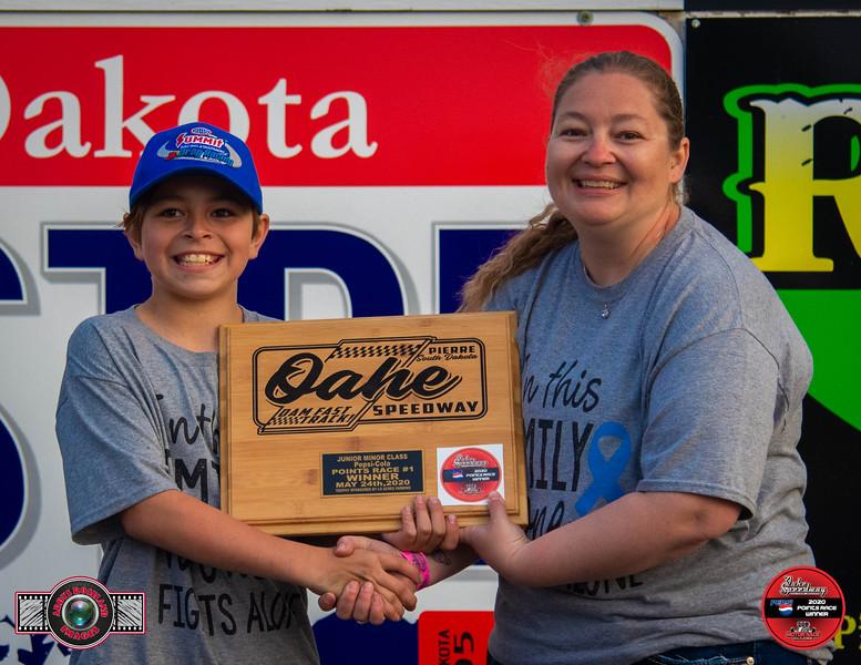 Damen Horsley, Pierre, SD - Winner - Aberdeen Wings Junior Minor Pepsi Points Race #1