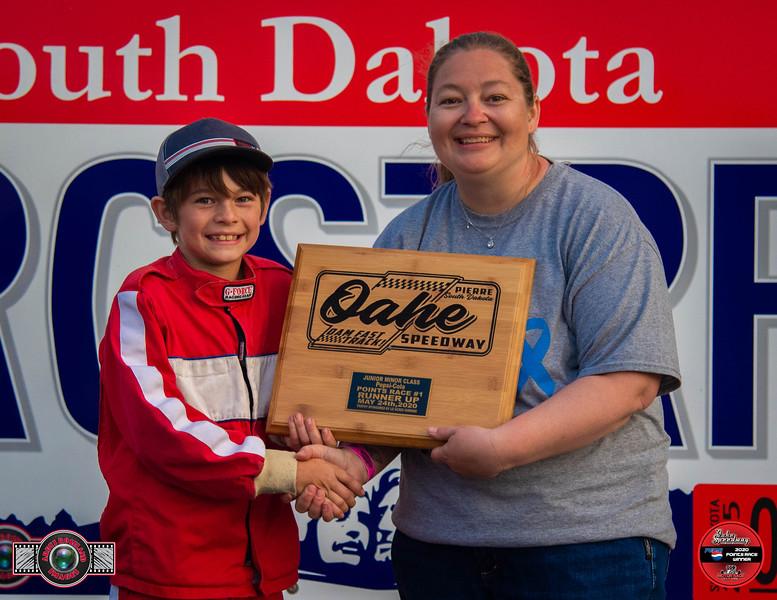 Noah Horsley, Pierre, SD - R/U - Aberdeen Wings Junior Minor Pepsi Points Race #1