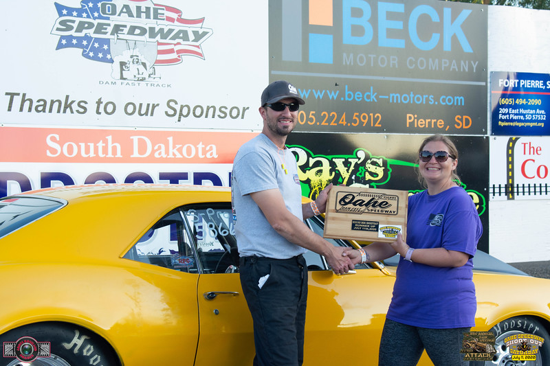 Dustin Buchmann, Beulah, ND - Winner, Despite what the Trophy says!! - Oahe Speedway Box/No Box Shootout -