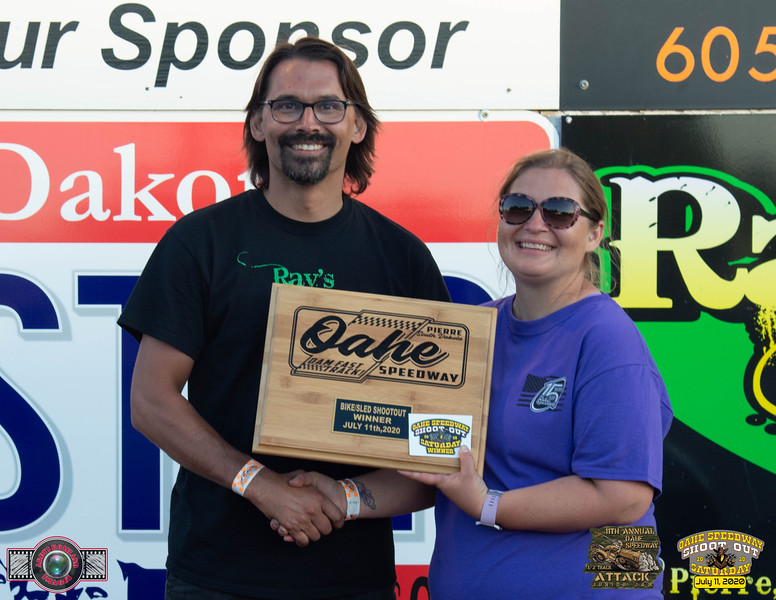 Raymond Horsley, Pierre, SD - Winner - Oahe Speedway Bike/Sled Shootout
