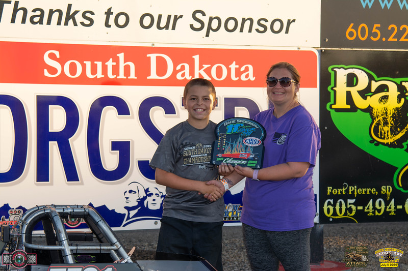 Damen Horsley, Pierre, SD - Winner - 11th Annual Oahe Speedway Minor Junior Jam Half Track Attack