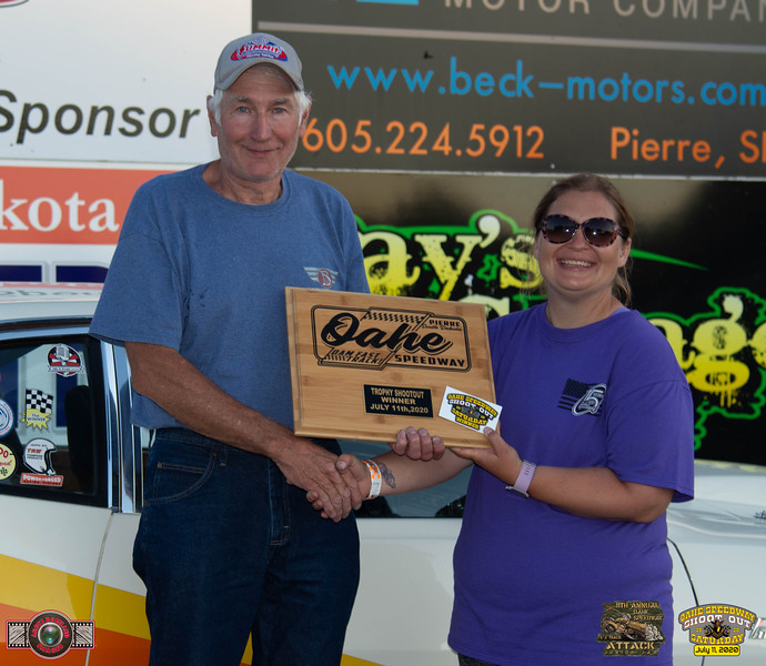 Duane Soper, Gettysburg, SD - Winner - Oahe Speedway Trophy Shootout
