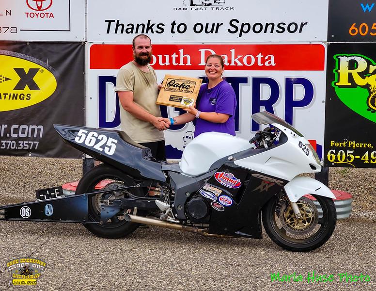 Michael Braley, Pierre, SD ~ Winner ~ 2020 Oahe Speedway Bike/Sled Shootout