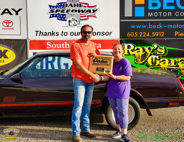 Casey Thorstenson, Aberdeen, SD ~ Winner ~ 2020 Oahe Speedway Trophy Shootout