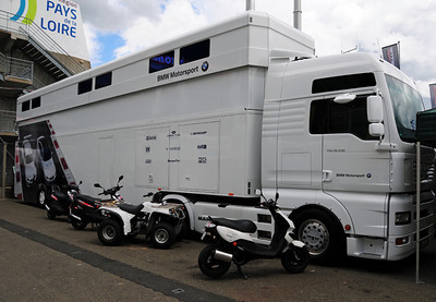 BMW team transporter