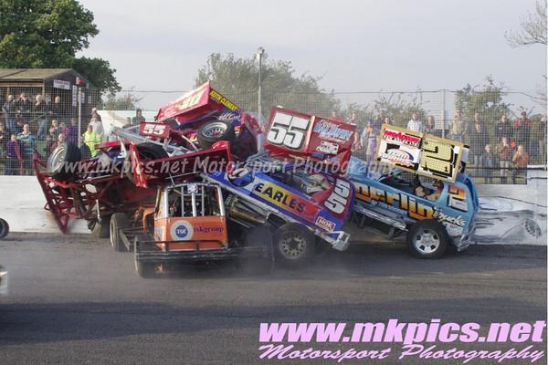 BriSCA F1 Stock Cars, Northampton International Raceway, 23 October 2011