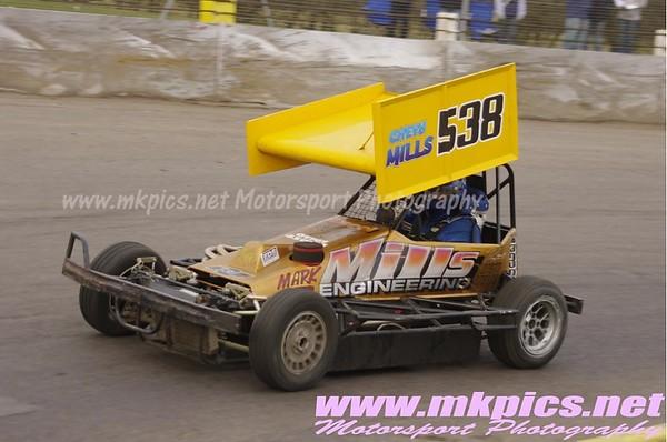 BriSCA F2 stock cars, Northampton 14 March 2010