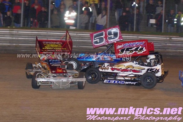 BriSCA F2 Stockcars, Birmingham Wheels Raceway, 17 March 2012