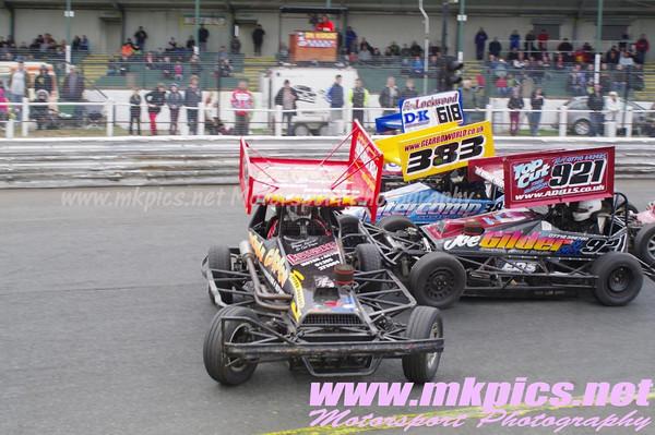 BriSCA f2 World Qualifier, Hednesford Hills, 21 April 2013