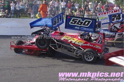 BriSCA F2 Stockcars, Northampton 19 July 2014