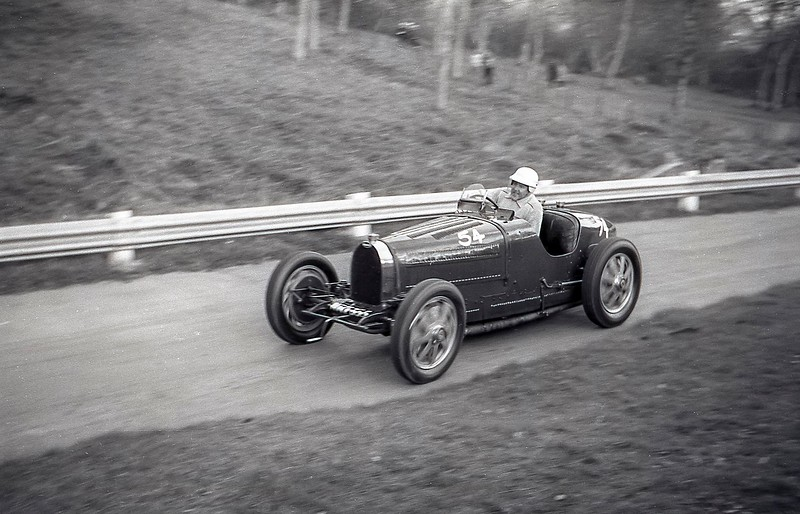 Frank Wall, Bugatti type 35B, Prescott, May 1963