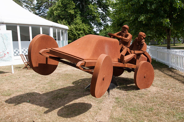 Early Years Of Motor Racing Statues