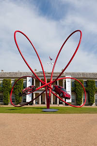 100th Birthday of Alfa Romeo Sculpture in Front of Goodwood House