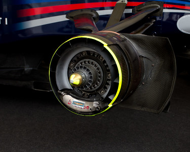 Front Disc Brake on a 2011-Red Bull-Renault RB7