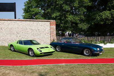 1966 - Lamborghini Miura and 1964 - Lamborghini 350 GT