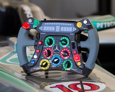 2011 - Mercedes MGP WO2 `Steering Wheel'