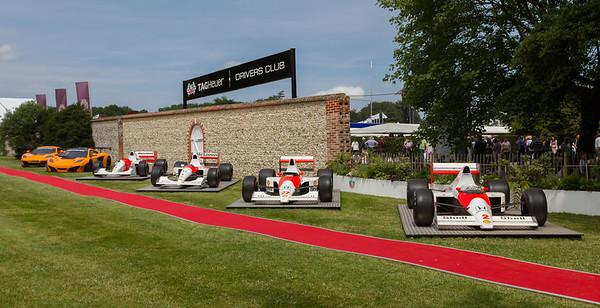 Line of McLaren Race Cars