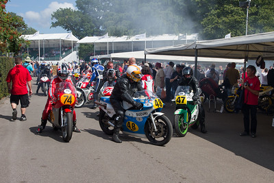 Riders Coming Back To The Paddock After There Run