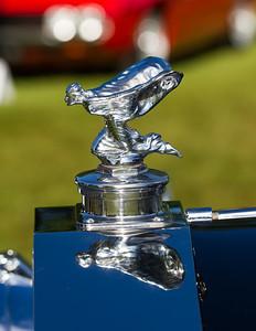 kneeling Spirit of Ecstasy on 1938 - Rolls-Royce Phantom III Park Ward Sedanca De Ville