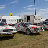 Line-up of Audi Rally Cars